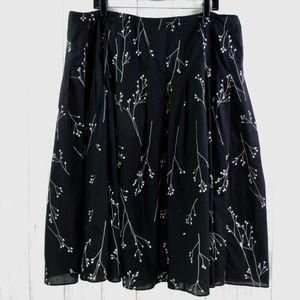 Jones New York Black Side Zipper Lines Skirt 18W